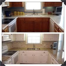 kitchen cabinets painted white before and afterChalk Paint Kitchen Cabinets Before And After Chic Idea 9 Plain