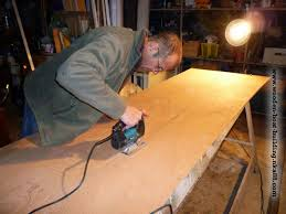 how to cut marine plywood panels according to the boat plan
