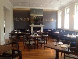 and open door rstaurant room onto fireplace whale cote