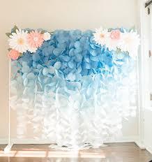 Paper Flower Backdrop Garland Paper Circle Garland Backdrop Blue Ombre Products Paper Flowers