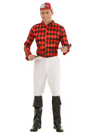jockey size plus size horse jockey costume