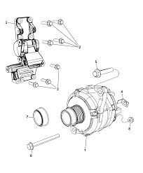 Generator alternator and related parts for 2015 jeep pass