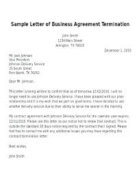 Letter To Terminate Contract With Supplier Termination Letter Of A Service Contract Template Sample For