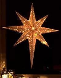 Led Stern Aus Holz Mit 10 Leds Beleuchtet Kabellos Mit