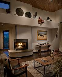 decoration fireplace family room southwestern with native american objects wood ch