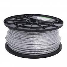 <b>Трос</b> стальной <b>DIN 3055</b> 4 мм х 1 м, белый цинк - купите по ...
