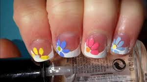 quick and easy flower for spring nail art tutorial (short nails ...