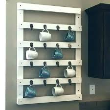 coffee mug rack for wall coffee mug storage mug storage coffee mug storage wall mug rack