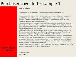purchaser cover letter purchaser cover letter