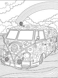 Vw Kombi Coloringpage Colorish Coloring Book For Adults By
