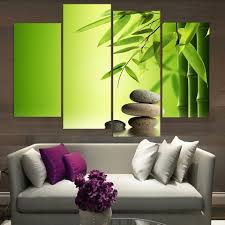 Painting Canvas For Living Room Online Buy Wholesale Bamboo Canvas Art From China Bamboo Canvas