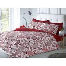 pieridae paisley duvet cover set red sm