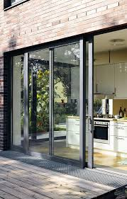grey aluminium sliding patio door