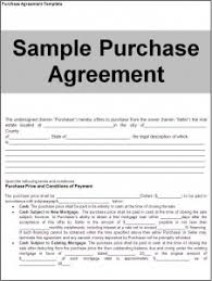 purchase agreement sample purchase agreement template word excel formats