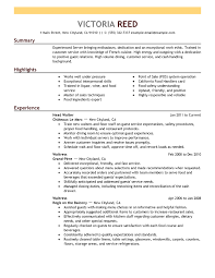 example resume formats - Template