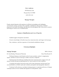 Massage Therapy Resume Examples Sample Resume Art Therapist RESUME 16