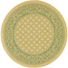 couristan recife garden lattice natural green 9 ft x 9 ft round area rug