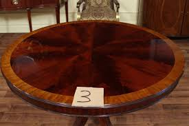 48 round dining table with leaf mahogany within room leaves