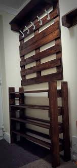 Coat Rack And Shoe Rack Hallway Pallet Coat Rack and Shoe Rack 100 Pallets 20