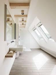 attic lighting. Attic Bathroom Designed With White Walls And Windows Also Modern Lighting