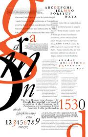 Garamond Designer Garamond Poster For Typography Assignment Typographic