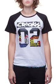 <b>Футболка CROOKS & CASTLES</b> W All City Baseball T-Shirt (White ...