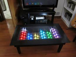coffee table led sa table led coffee table diy great concept of led coffee
