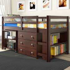wooden junior loft bed with desk