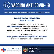 Salute Lazio - Vaccino anti Covid-19 - Aggiornamento...