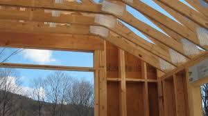 custom wood scissor truss for garage