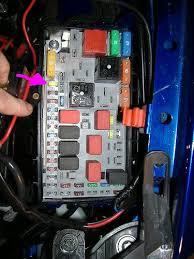 technical fuse box where is located Fiat Punto Evo Fuse Box Fiat Panda