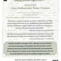 living deliberately essay contest the thoreau society live deliberately essay contest