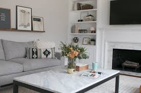 marble coffee table from crate barrel