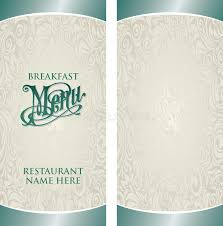 breakfast menu template menu template stock vector illustration of elegant creative 44840911