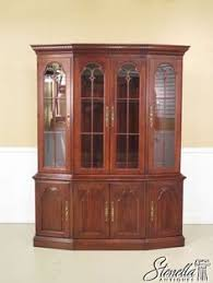 37230e pennsylvania house cherry 4 door china cabinet breakfront more information more information 9 pieces dining set chippendale style solid gany