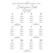 Wedding Table Chart Template Wedding Table Assignment