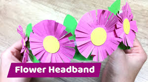 Paper Flower Headbands Paper Flower Headband Summer Diy For Girls Youtube
