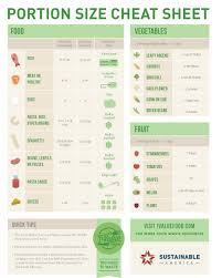 Food Portion Size Chart Free Printable Portion Size Guide About One Third Of