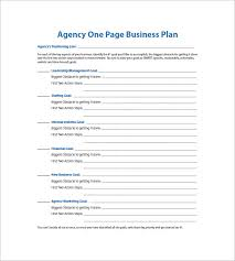 simple one page business plan template one page business plan template 12 free word excel pdf