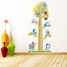 pcs doraemon creative diy kids height chart wall stickers home