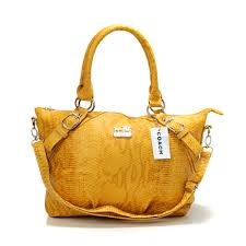 Coach Madison Embossed Medium Yellow Totes DER