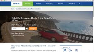 how to get a free geico auto insurance quote 2