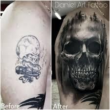 Tetování Lebka Předělávka Tetování Tattoo
