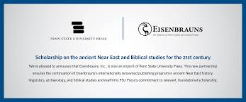 banner announcing eisenbrauns acquisition
