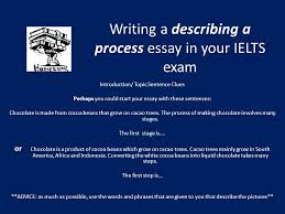 Describe Your Essay Writing A Describing A Process Essay In Your Ielts Exam Needs A