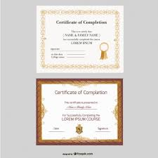 Professional Certificates Templates Beautiful Certificate Templates Vector Free Download