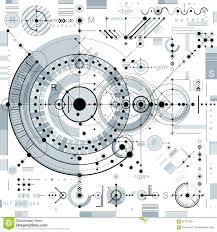 Toekomstige Technologie Vectortekening Industrieel Behang Grafisch