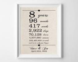 8th wedding anniversary traditional gift beautiful inspirational eighth wedding anniversary gift 25 unique