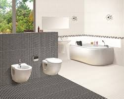 Black And White Bathroom Tile Purple Wall Awesome Bathroom Tile Ideas ...