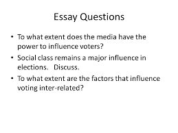 influences on voting behaviour ppt video online  2 essay questions